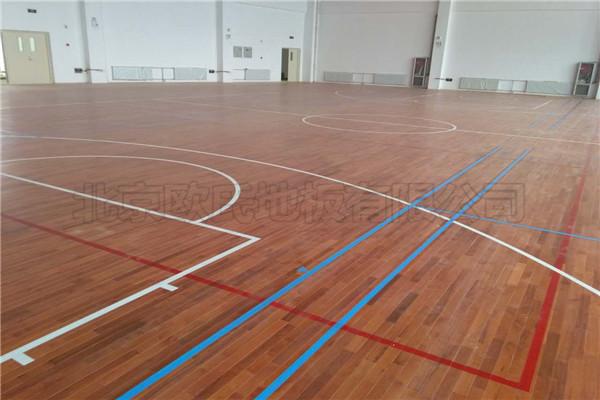 运动木地板--甘肃省金昌市第五中学新校区成功案例