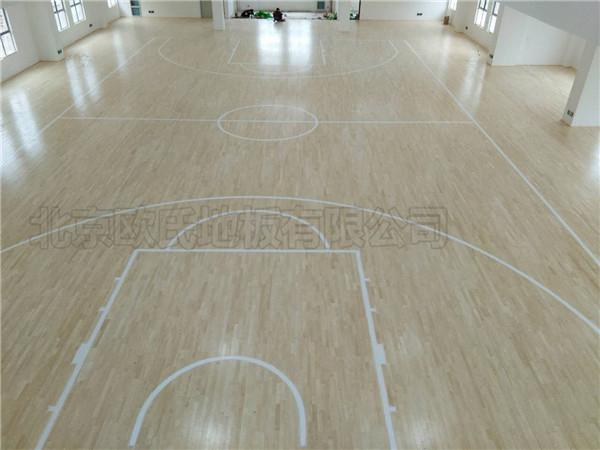 篮球馆木地板--湖北天门杭州华泰小学成功案例