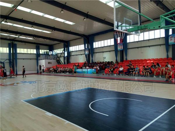 篮球馆木地板--秦皇岛海涛万福环保设备股份有限公司成功案例