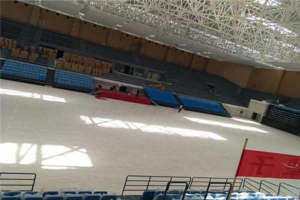 篮球木地板--甘肃省酒泉市体育馆成功案例