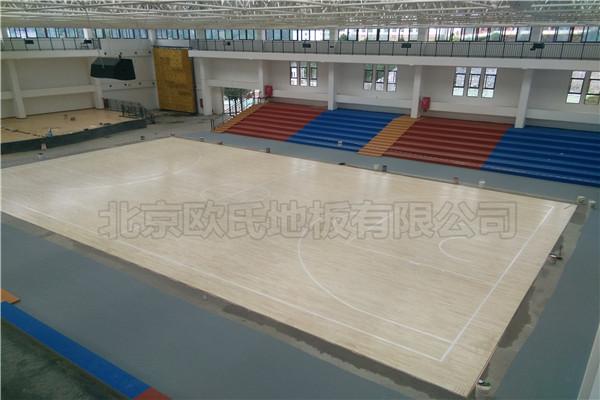 单龙骨实木运动地板贵州省毕节市织金县育才学校成功案例