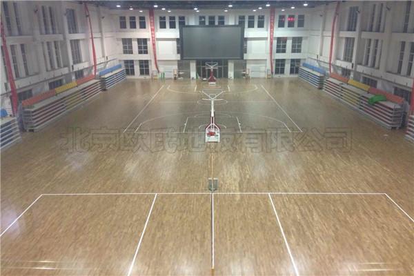 体育馆木地板--包头市回民中学成功案例