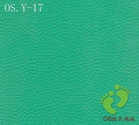 欧氏绿色羽毛球地板