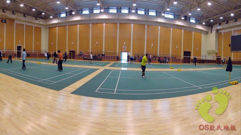 华佳体育馆运动木地板铺设