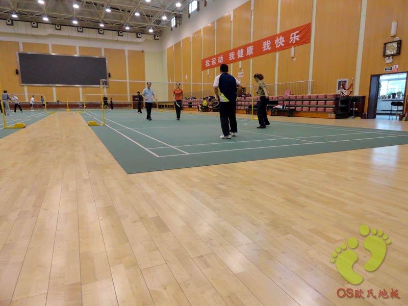 华美运动馆运动木地板铺设